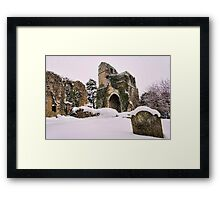 St Mary, Little Chart In The Snow Framed Print