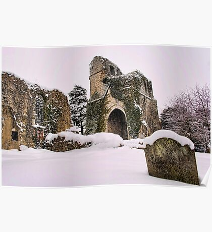 St Mary, Little Chart In The Snow Poster