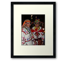 Traditional Huichol's Costume - Traje Huichol Tradicional Framed Print