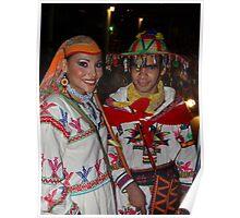 Traditional Huichol's Costume - Traje Huichol Tradicional Poster