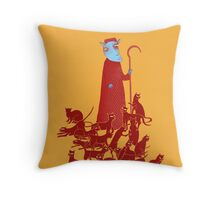 Herding Cats Throw Pillow