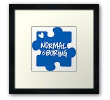 Normal Is Boring, Autism Awareness Framed Print