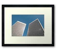 Office towers Framed Print
