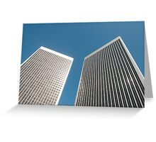 Office towers Greeting Card