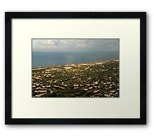Just Before Touch Down - Fiumicino, Rome, Italy Framed Print