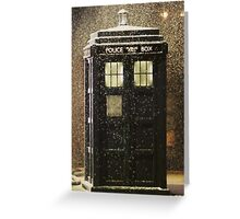 Doctor who snowy TARDIS Greeting Card