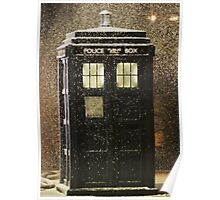 Doctor who snowy TARDIS Poster