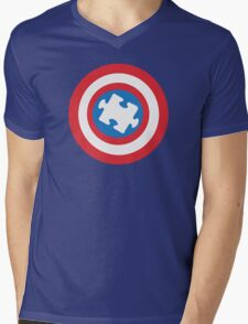 Captain Au-some Mens V-Neck T-Shirt