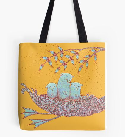 Sweet Dreams of the Owl Pups on their Night Journey Tote Bag