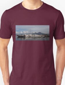 Vesuvius Volcano and the Boats in Naples, Italy Harbor T-Shirt