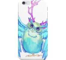 The Blue Owl of Wanderland I iPhone Case/Skin