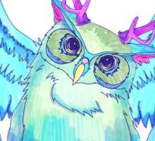 The Blue Owl of Wanderland I Sticker