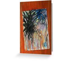 Painting stuck on a door Greeting Card