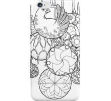 Christmas balls and baubles with a dove iPhone Case/Skin