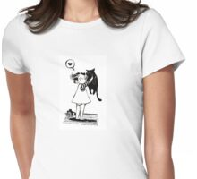 Fat cat Womens Fitted T-Shirt