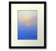 Frozen Misty Sunset Framed Print