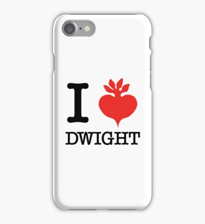 I Beet Dwight  iPhone Case/Skin