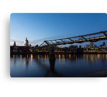 Reflecting on Bridges and Skylines - City of London, England, UK Canvas Print
