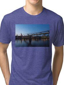 Reflecting on Bridges and Skylines - City of London, England, UK Tri-blend T-Shirt