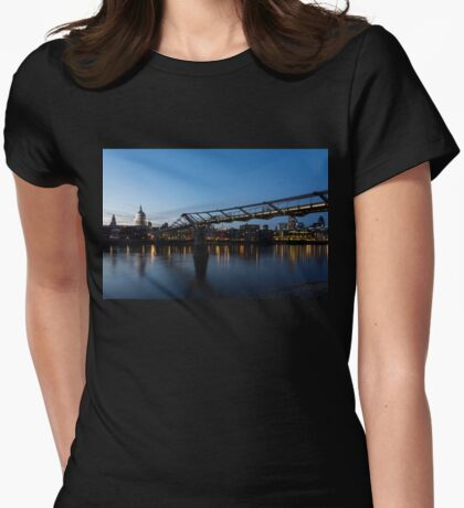 Reflecting on Bridges and Skylines - City of London, England, UK Womens Fitted T-Shirt