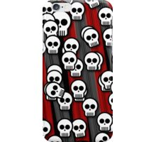 Skulls black and red iPhone Case/Skin