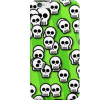 Skulls green iPhone Case/Skin
