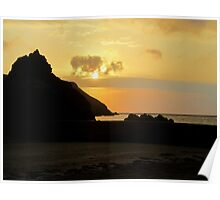 South Devon Hope Cove Autunm Sunset ( 3 ) Poster
