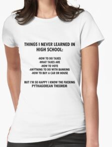 Things I never learned in High School Womens Fitted T-Shirt