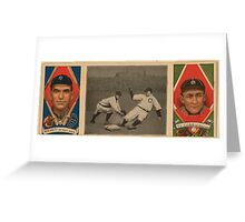 Benjamin K Edwards Collection George Moriarty Ty Cobb Detroit Tigers baseball card portrait Greeting Card