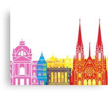 Strasbourg skyline pop Canvas Print