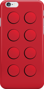 Lego Brick iPhone Case (red) by PEZRULEZ