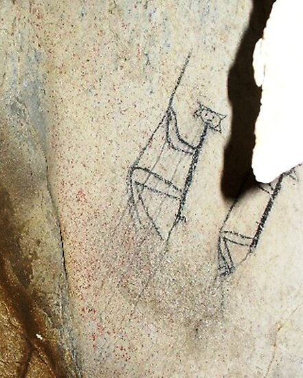 Rope Climbers-Hispanic Caribbean Taino Indian Caves Paintings by rchalas