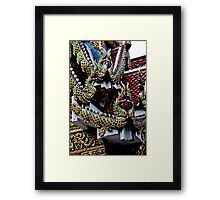 Dragon Face Off Framed Print