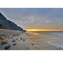 Dorset: Empty Sands at Charmouth Photographic Print