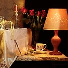 Rose, Candle and Wood Lamp 3 by FrankSchmidt