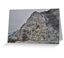 Dorset: Frozen Cliff at Charmouth Greeting Card