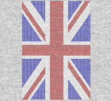 The Union Jack in words- Red, White and Blue. Unisex T-Shirt