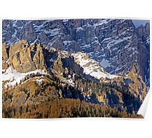 Light on the Dolomites Poster