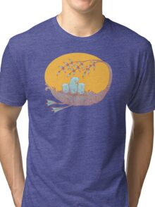 Sweet Dreams of the Owl Pups on their Night Journey Tri-blend T-Shirt
