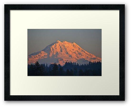 Mount Rainier at Sunset by Kathy Yates