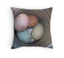 a rainbow of eggs Throw Pillow