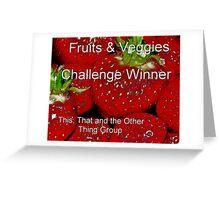 Banner for Challenge Winner - Fruits & Veggies Greeting Card