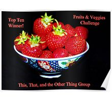 Top Ten - Fruits & Veggies Challenge Poster