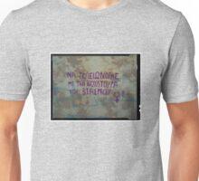 stencil one rose dark Unisex T-Shirt
