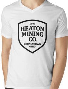 Heaton Mining Co. (alt. version) - Inspired by Bruce Springsteen's 'Youngstown' Mens V-Neck T-Shirt