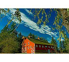My Red Barn Photographic Print