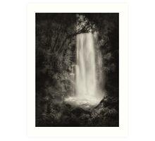 Water Veil Monochrome Art Print