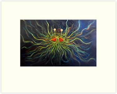 Flying Spaghetti Monster Painting- The Cosmic Pastalord by Alizey Khan