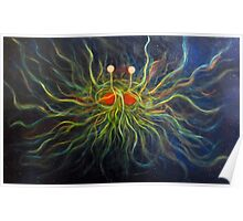 Flying Spaghetti Monster Painting- The Cosmic Pastalord Poster
