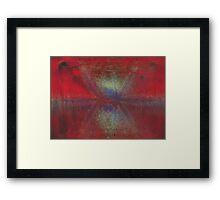 Asteroid Strike Framed Print